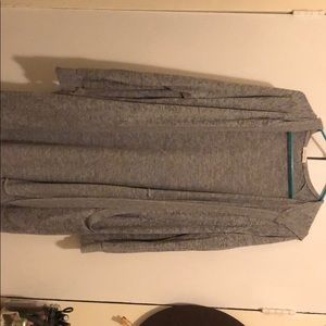 Long urban outfitters grey cardigan with hood